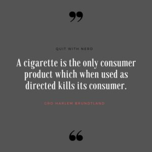 A cigarette is the only consumer product which when used as directed kills its consumer.